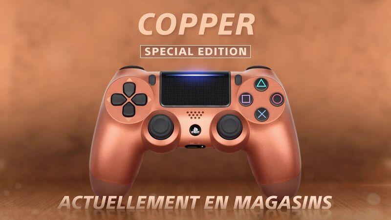 دسته اصلی DualShock 4 Copper New Series مسی gallery4