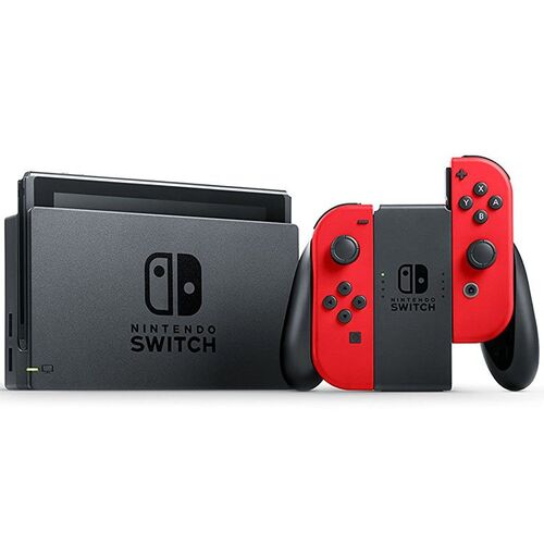کنسول بازی نینتندو  Nintendo Switch - Red with Super Mario Odyssey Game Card